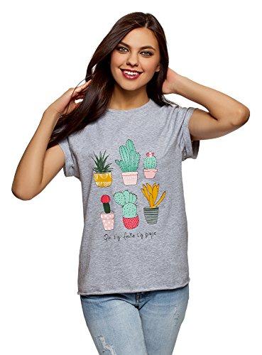 oodji Ultra Mujer Camiseta de Tirantes con Volantes